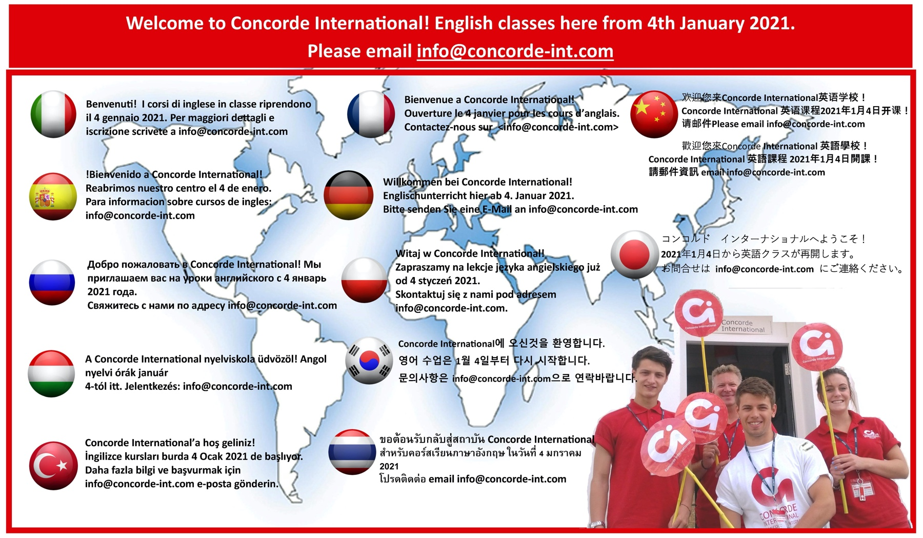 Learn English online with Concorde International